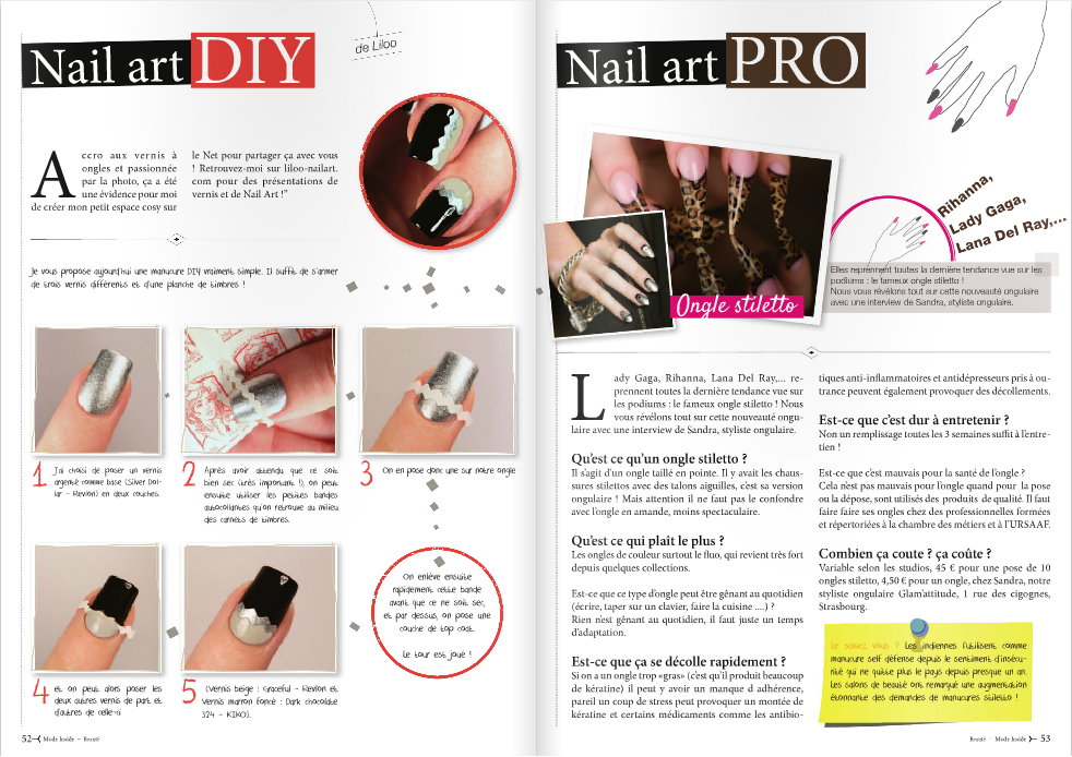 chronique nail art diy magazine mode inside le blog. Black Bedroom Furniture Sets. Home Design Ideas