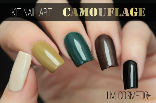 kit nail art camouflage lm