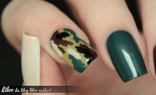 kit nail art camouflage lm1