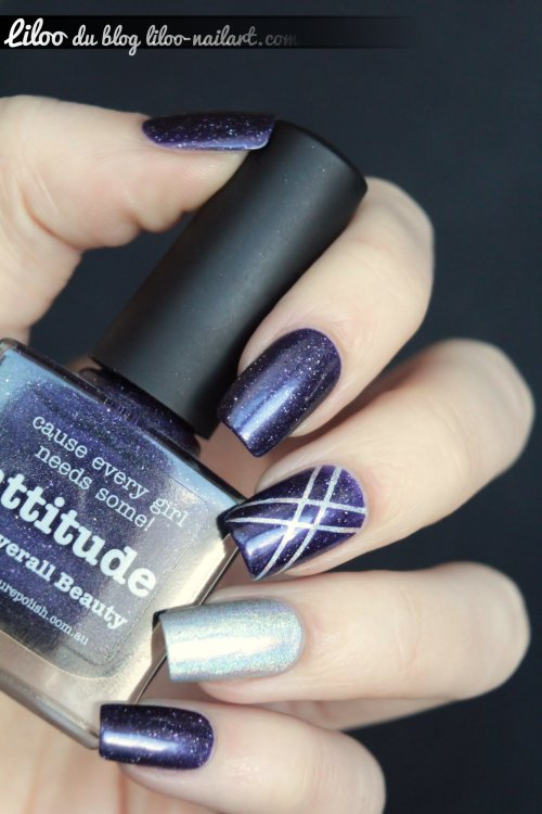 attitude picture polish halo hues color club nail art striping