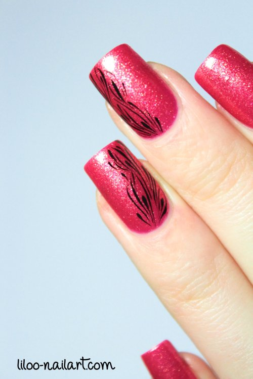 Golden rose matte velvet 114 liloo nail art