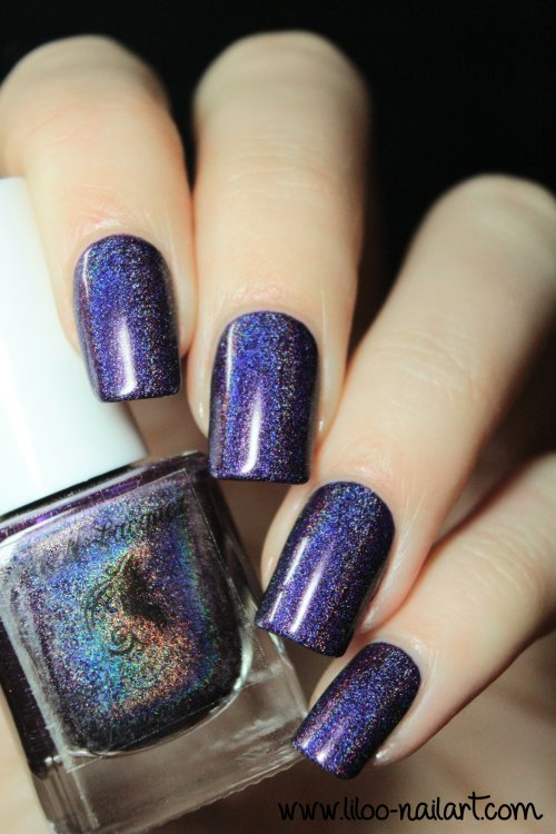evening gown 2014 holo polish by fun lacquer liloo nail art