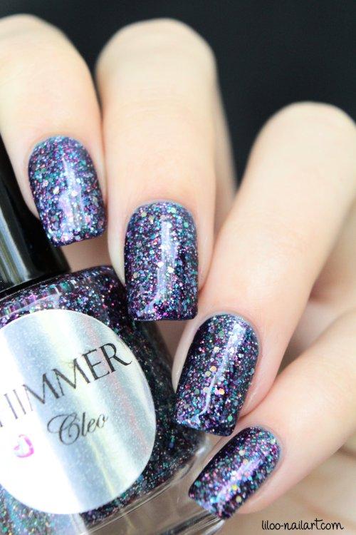 cleo shimmer polish liloo nail art