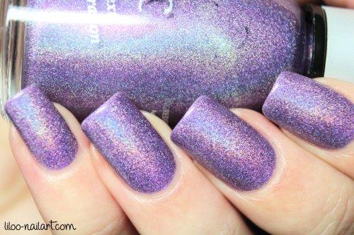 powerful purple magnetic liloo nail art