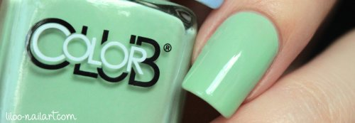 La petite mint-sieur color club liloo nail art