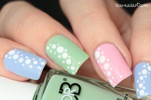 polka dots manicure liloo nail art