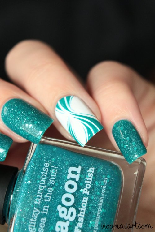 lagoon picture polish liloo nail art