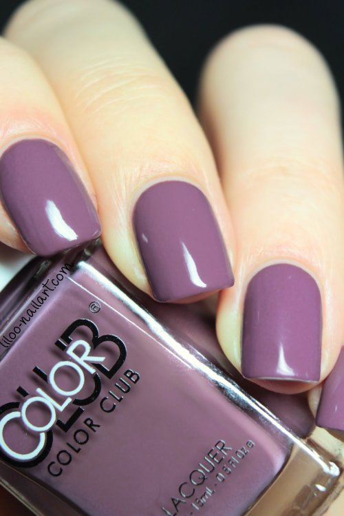 midnight mulberry color club liloo nail art