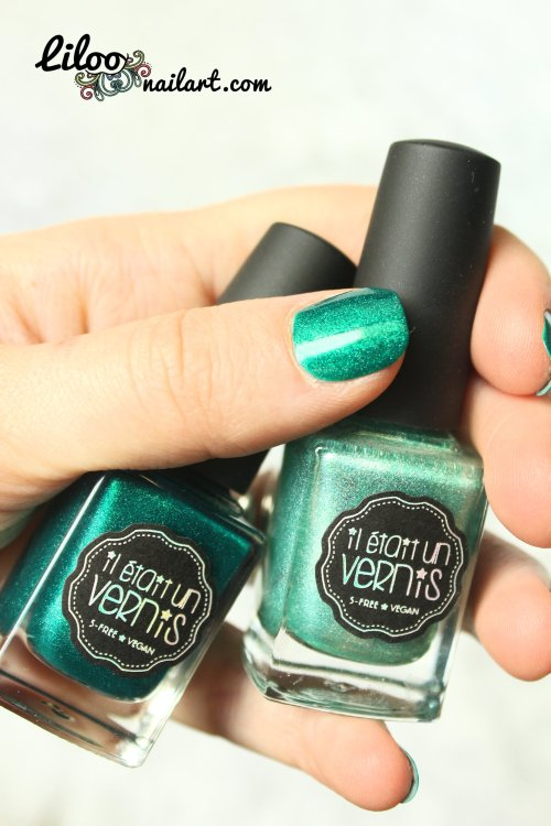 liloo nail art nail polish teal gradient stamping